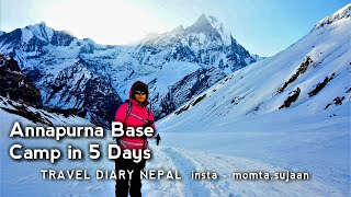 Annapurna Base Camp in 5 days from Pokhara II March 2017