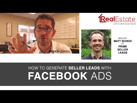 REPLAY: Real Estate Lead Generation With Facebook Ads & Adwords w/Matt Scheid