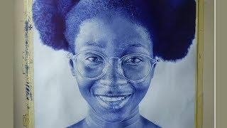 Hyper Realistic Ballpoint Pen Drawing - Benjamin Kwashie