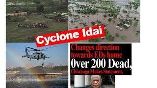 Cyclone Idai Latest News; Changes direction  to EDs home 0ver 200 Dead, Chiwenga Makes Statement,