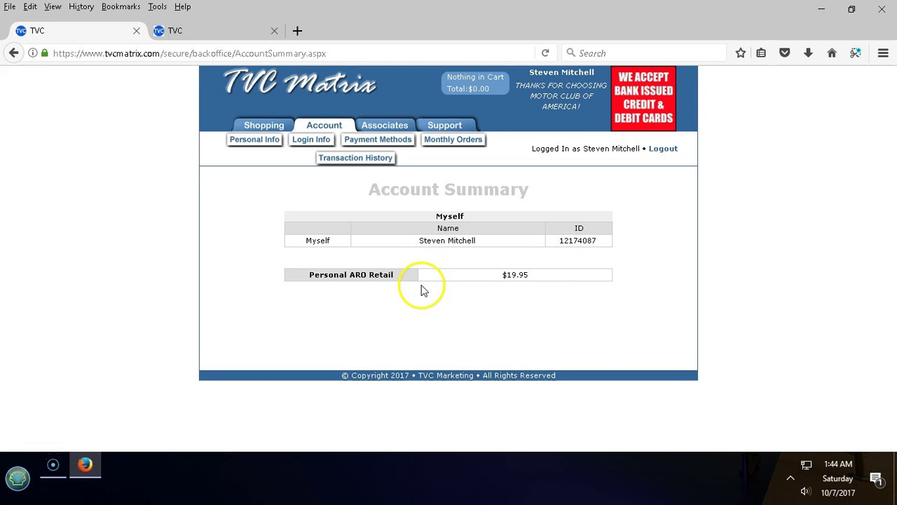 MCA Training How To Navigate Your TVC Matrix Backoffice