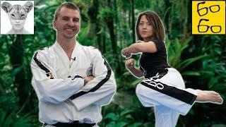 Как научиться бить долио-чаги? Антон Шаманин и урок тхэквондо для Жени Тимоновой (Всё как у зверей)