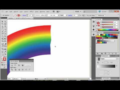 Adobe Illustrator CS5 Tutorial 27   Rainbow