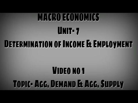 Determination of Income & Employment| Aggregate Demand & supply | Macro Economics Video no. 1