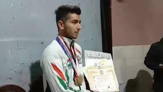 The Son of Soil Abhimanyu Charak Confident of Bringing Laurel to The State in The Field of Karate.
