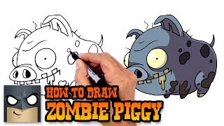 How to Draw Zombie Piggy | Plants vs Zombies