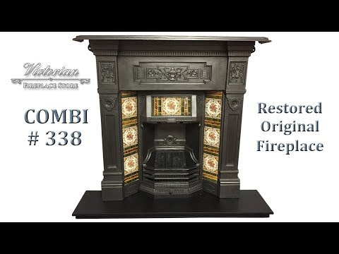 COMBI338 - Restored Original Combination Fireplace For Sale | www.VictorianFireplaceStore.co.uk