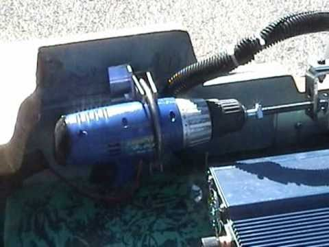Homemade Electric Helm Steering ~ Outboard motors~ The All electric Solar Powered  boat