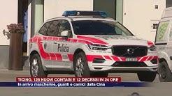 Etg - Ticino, 125 nuovi contagi e 12 decessi in 24 ore
