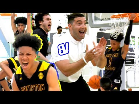 Mikey Williams COMPTON MAGIC DEBUT! 15U BLOWOUT Then CHALLENGED By AZ Supreme! Raining 3's + DUNKS!