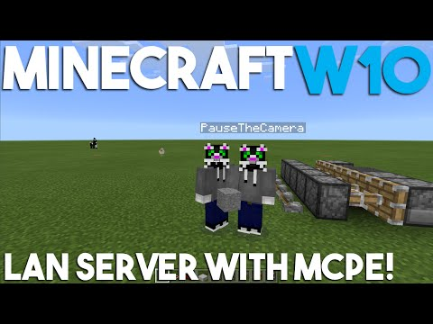 How to Make a LAN Server in Minecraft W10 and MCPE!