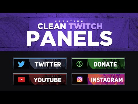 Creating Clean Professional Twitch Panels In Photoshop