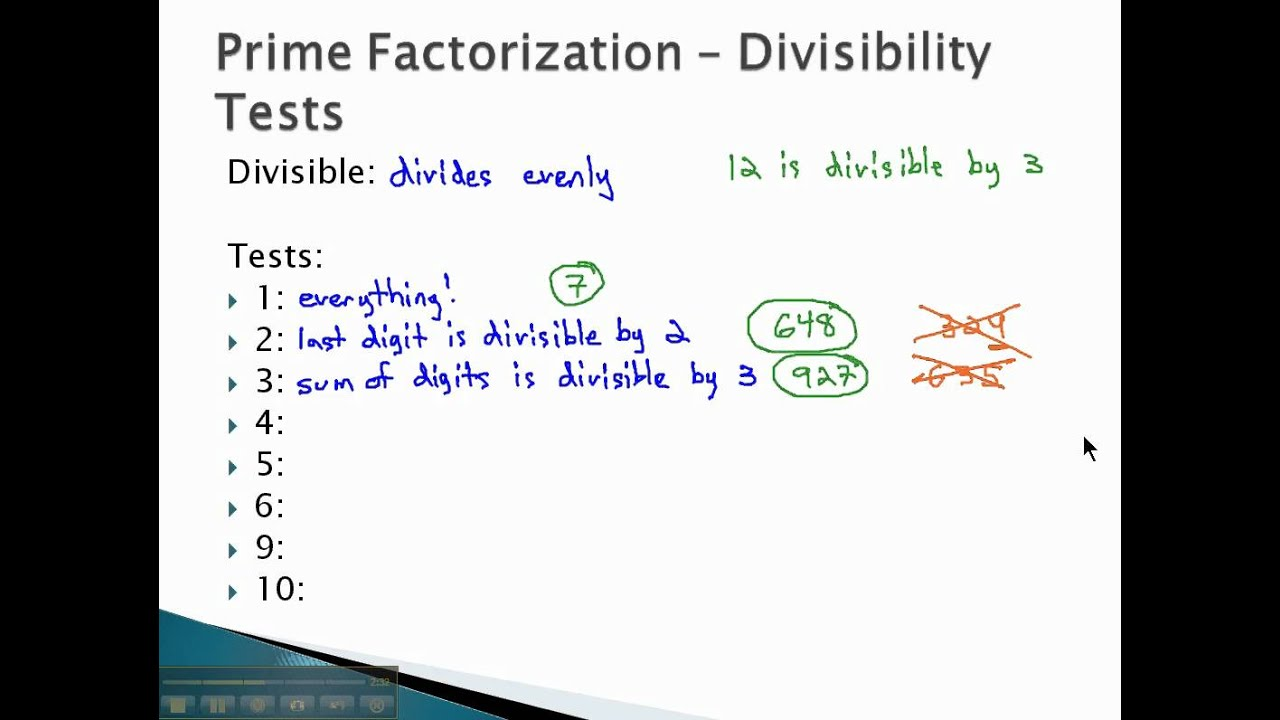 Worksheet Prime Factors Of 189 worksheet prime factors of 189 mikyu free factorization divisibility tests part 1 youtube 1