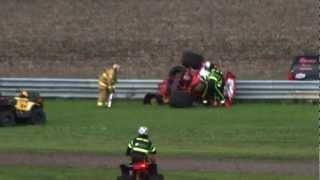 Sprint car big crash Billy Johnson