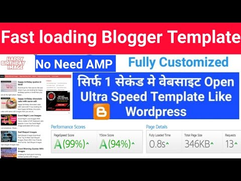 Fast Loading Blogger Template | Fully Customize SEO Friendly Ads Ready Responsive Template