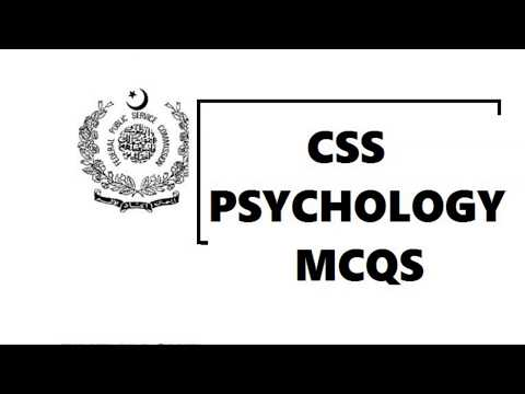 CSS PSYCHOLOGY PAST PAPERS 2012 AND 2013