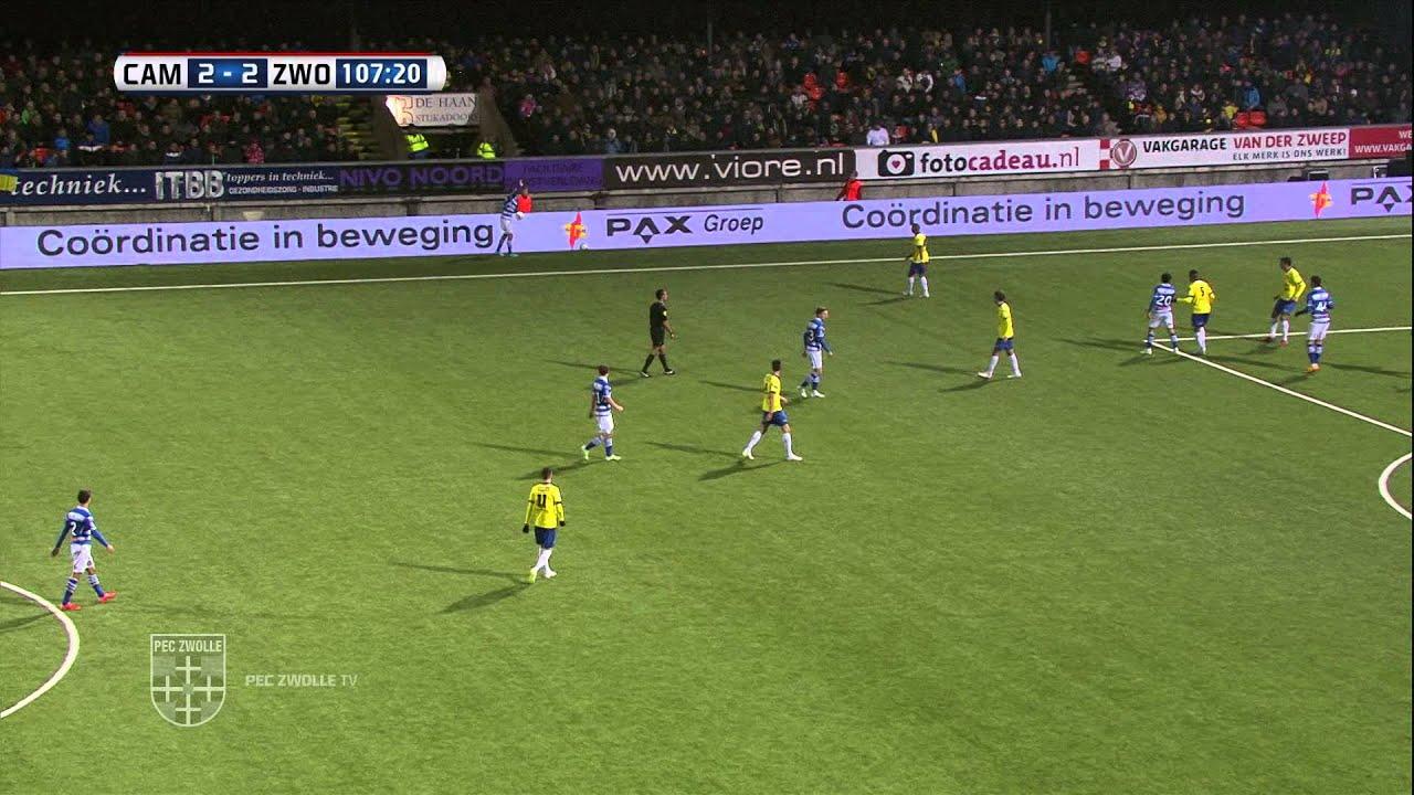 Samenvatting Sc Cambuur Pec Zwolle Youtube