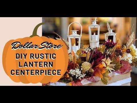 NEW Thanksgiving Farmhouse Centerpiece - Dollar Store DIY How-to