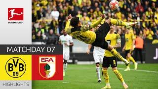 Borussia Dortmund FC Augsburg 2 1 Highlights Matchday 7 Bundesliga 2021 22