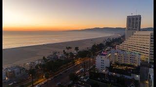 California Drone Sunset 4K - Santa Monica