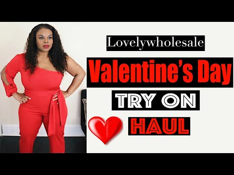 Lovelywholesale Valentine's Day Try On Haul | Model vs Reality from YouTube · Duration:  4 minutes 33 seconds