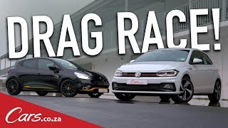 Drag Race - New Polo GTI vs Renault Clio RS 18 F1