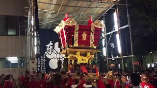 堺祭2017 前夜祭 10町ふとん太鼓担ぎ合い