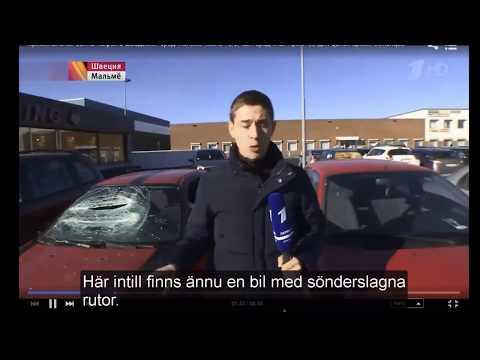 Rysk TV om situationen i Malmö