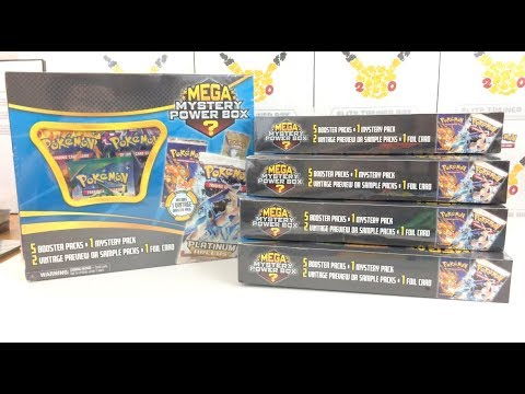 HOW RARE ARE THE ACTUAL VINTAGE PACKS? Opening 5 Mega Mystery Power Boxes!