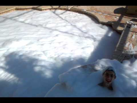 Dish Washing Soap In A Pool Youtube