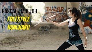 Amazing Freestyle Nunchaku Girl - Petit PatapOn -HD 2017- (DJI-X5 Osmo Raw)