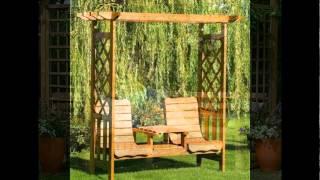 видео  садовые перголы и арки из дерева для дачи