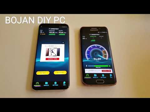 4G LTE VIP Network Speed Test on Samsung s8+ and s6 edge