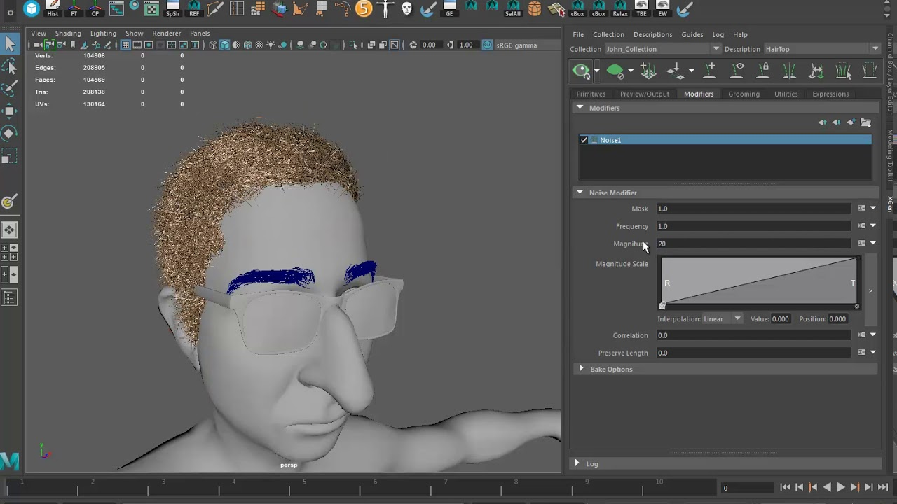 John Oliver Project Zbrush Fibermesh to Maya Xgen