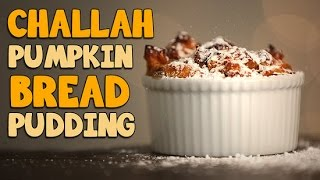Pumpkin Challah Bread Pudding Recipe | Just Add Sugar