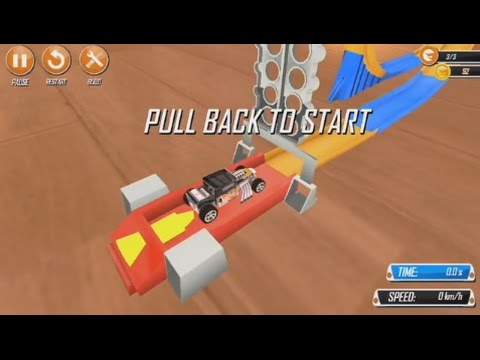 Hot Wheels® Track Builder™ (by Mattel) - arcade game for android - gameplay.