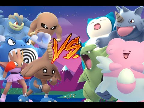 Pokémon GO Gym Battles Level ⭐10 Gym⭐ CO-OP Hitmontop Hitmonchan Hitmonlee Machamp Poliwrath & more