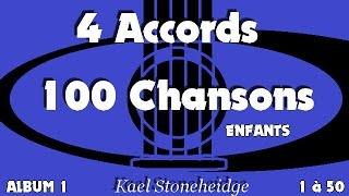 01 NEW - Frère Jacques - 1 Accord RE - Spécial Débutant Guitare - 4 Accords 100 Chansons Enfants