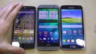 Nexus 5 vs Galaxy S5 vs HTC One M8. Стоит ли обновляться?