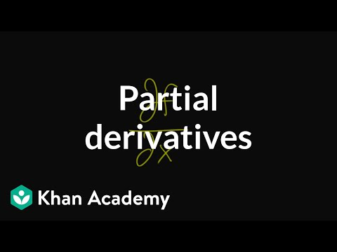Partial derivatives, introduction