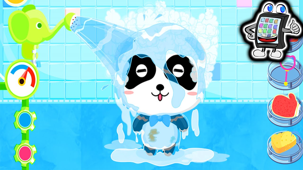 badezeit von baby panda app baby pandas bathtime panda badet spiel mit mir apps und games. Black Bedroom Furniture Sets. Home Design Ideas