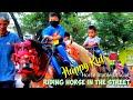Kuda Delman Tanpa Kereta~Happy kids riding horse in the street~Horse song favorit~Kuda Bekasi