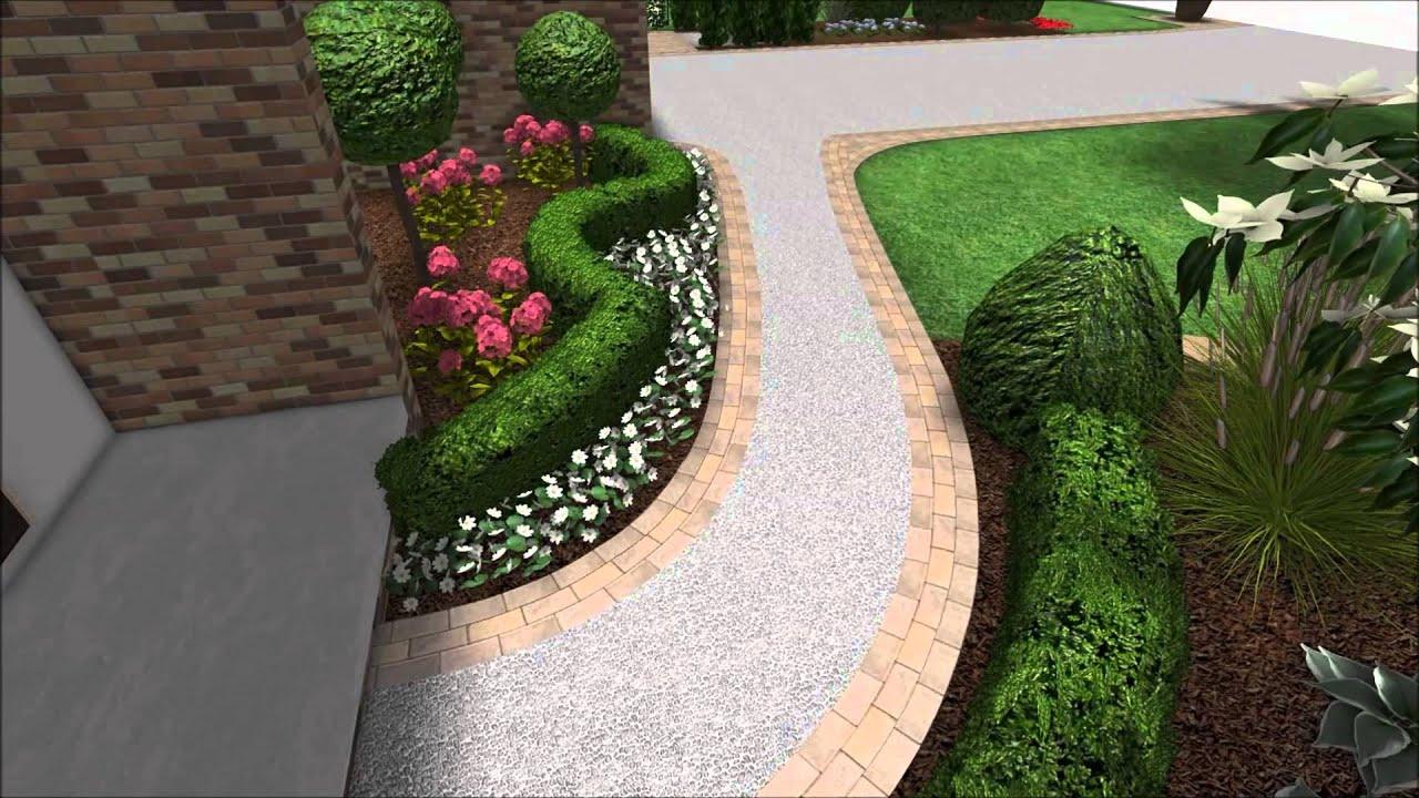 Landscape Design 3D Walkthrough - Front Yard Landscaping ...