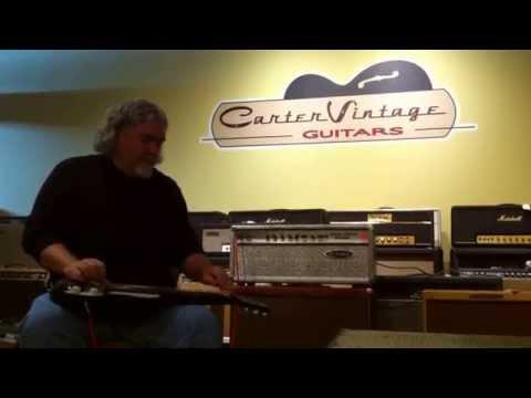 Playing through David Lindley's Dumble Steel String Singer at Carter Vintage in Nashville