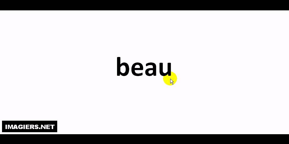 How To Pronounce In French Beau Youtube