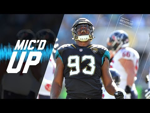 """Calais Campbell Mic'd Up vs. Texans """"He Saw Me and His Eyes Got Big"""" 