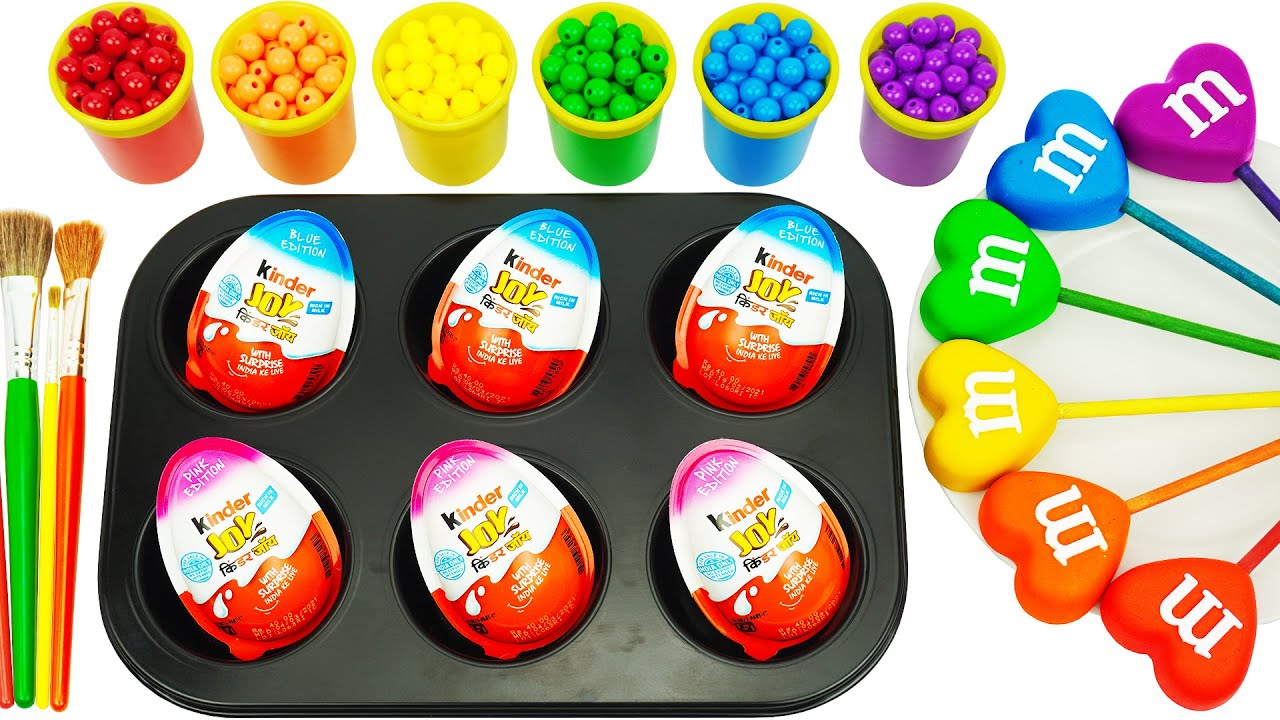 Satisfying Video l How to Make Playdoh Lollipop Candy into Rainbow Fruit & Eggs Cutting ASMR #95