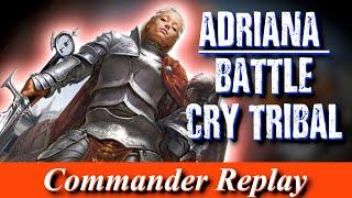 Adriana Battle Cry Tribal vs Lonis, Kess, Stonebrow | EDH Gameplay