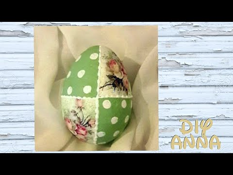 decoupage easter eggs DIY ideas decorations craft tutorial