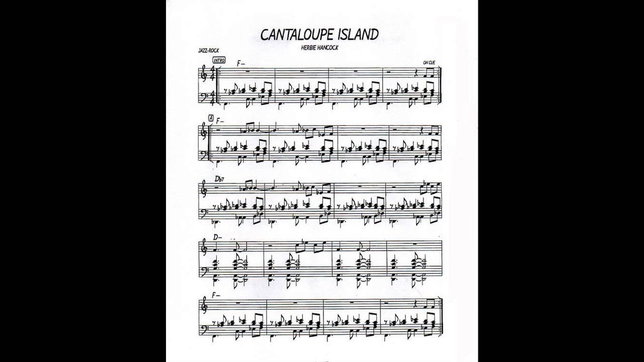 Cantaloupe Island Play Along Backing Track C Key Score Violin Guitar Piano